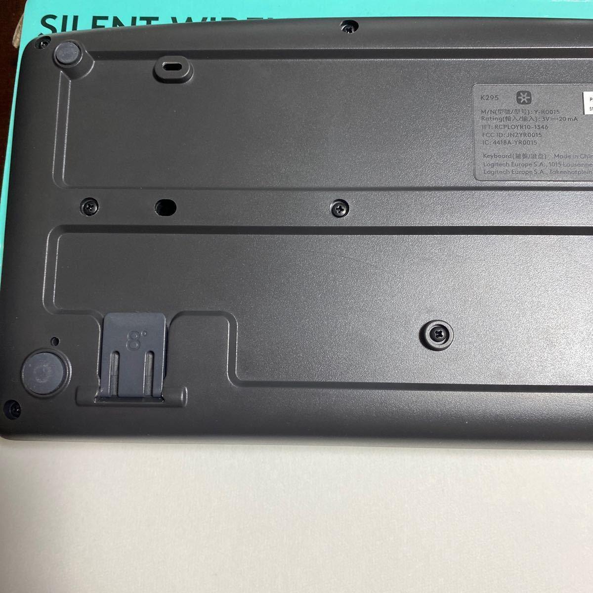 【ほぼ未使用】ロジクール ワイヤレスキーボード K295GP 静音 防水 無線