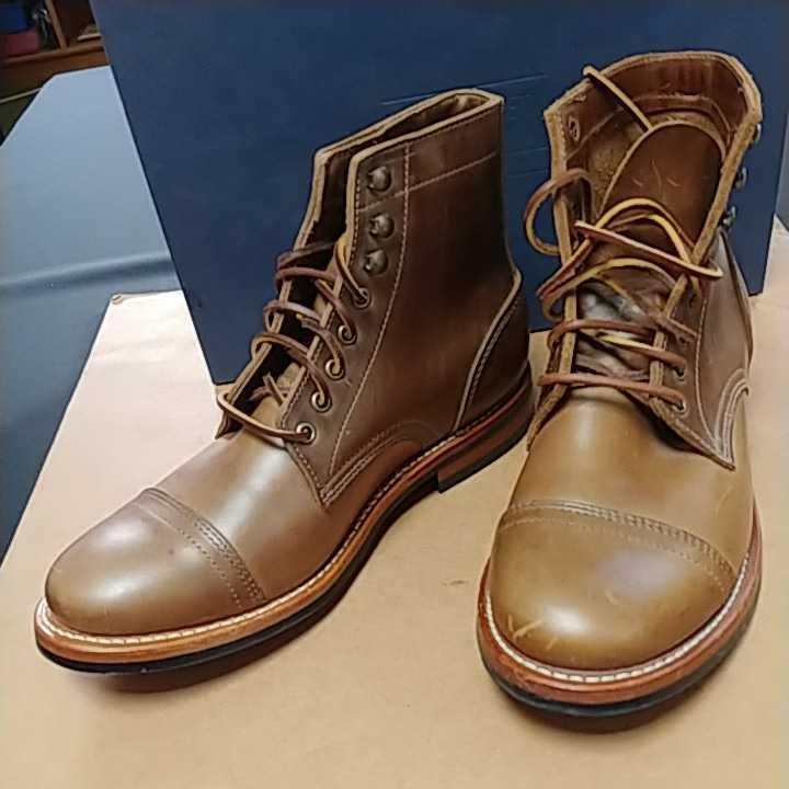 OAKSTREET BOOTMAKERS Dainite Trench Boot オークストリート ブーツメーカー トレンチブーツ size us9.5 27.5cm デウスエクスマキナコラボ_画像1
