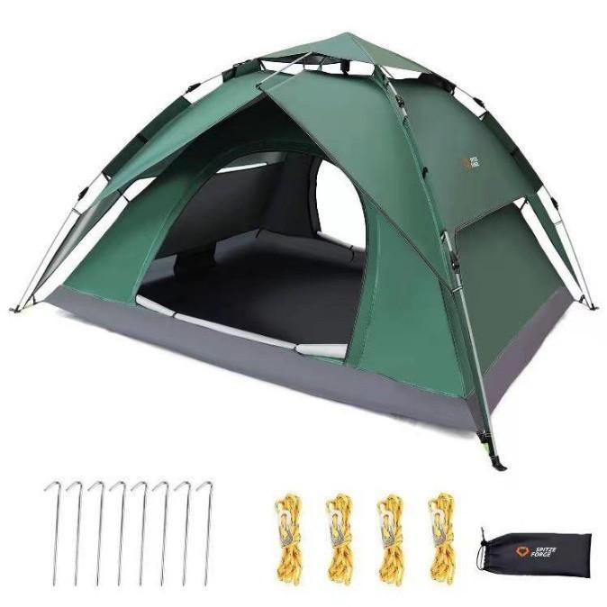 ワンタッチテント 2-3人用 2重層 キャンプ  ワンタッチテ 設営簡単 軽量