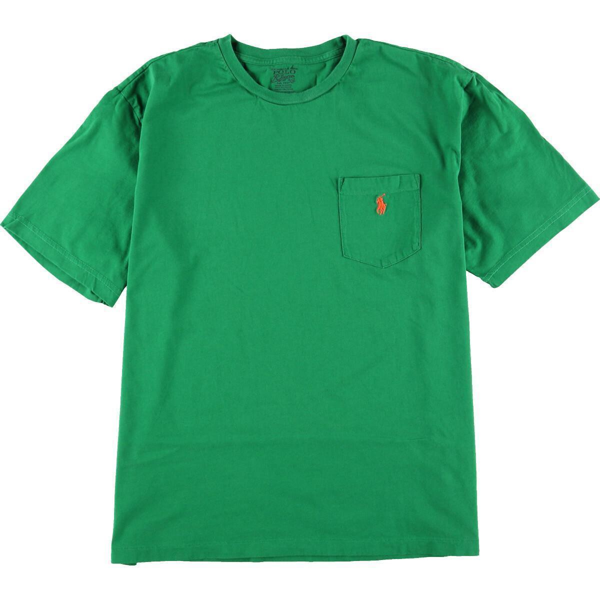 ラルフローレン Ralph Lauren POLO by Ralph Lauren ワンポイントロゴポケットTシャツ メンズXL /eaa155206_画像1