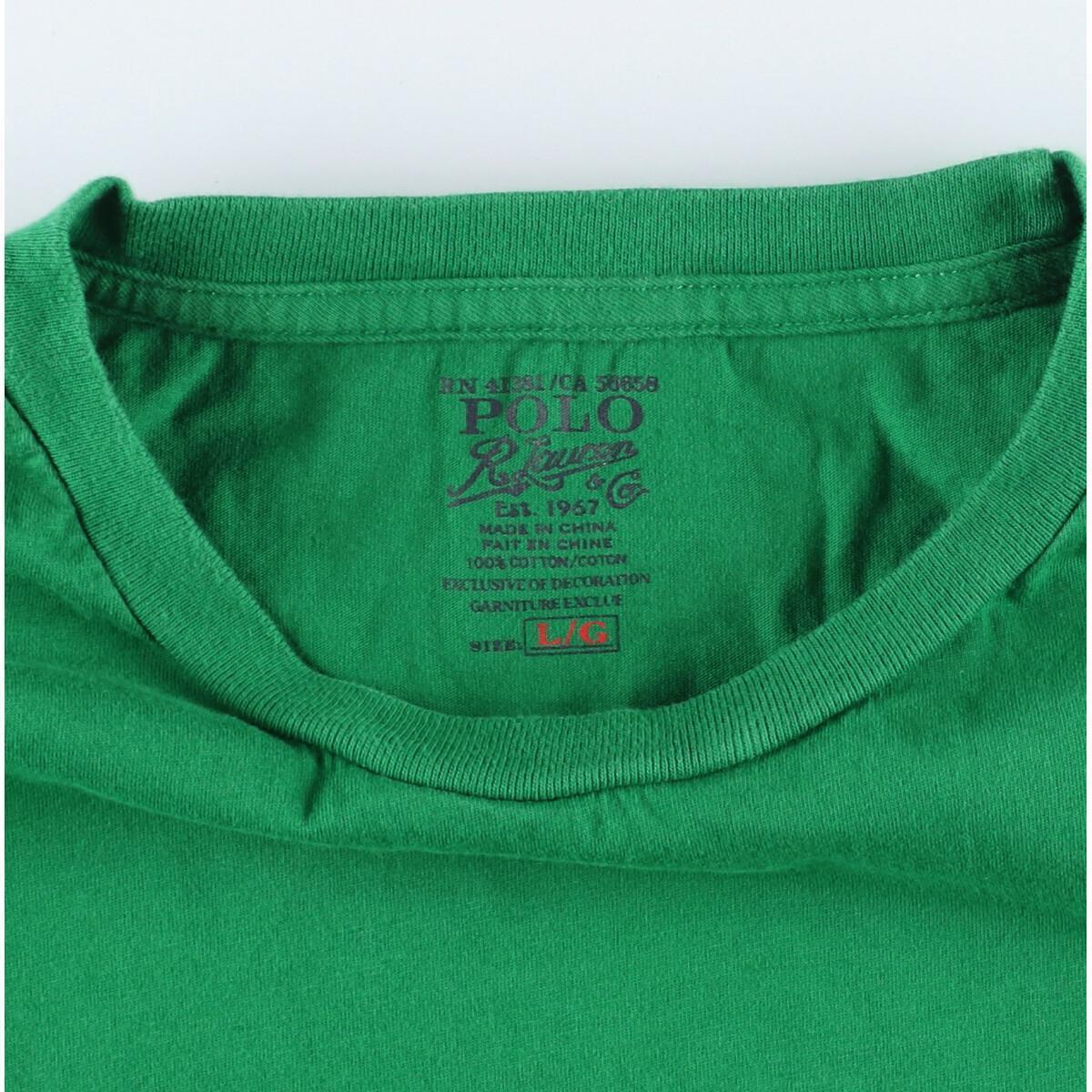 ラルフローレン Ralph Lauren POLO by Ralph Lauren ワンポイントロゴポケットTシャツ メンズXL /eaa155206_画像3