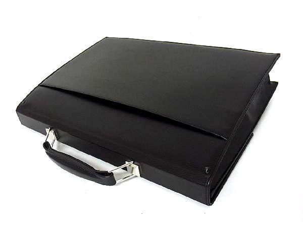 dunhill ダンヒル レザー シルバー金具 ハンドバッグ ビジネスバッグ ブリーフケース 書類かばん メンズ ブラック_画像2