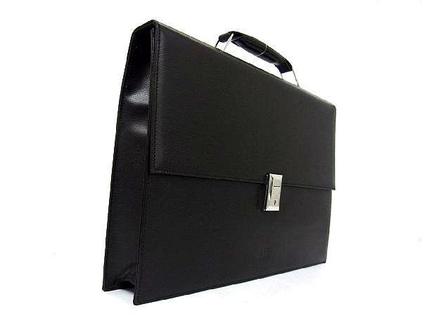 dunhill ダンヒル レザー シルバー金具 ハンドバッグ ビジネスバッグ ブリーフケース 書類かばん メンズ ブラック_画像3