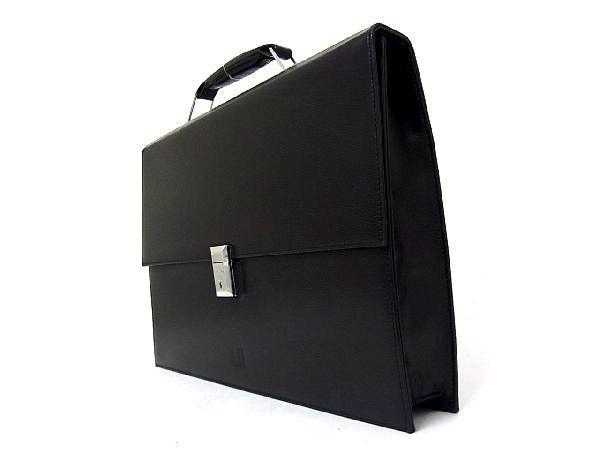 dunhill ダンヒル レザー シルバー金具 ハンドバッグ ビジネスバッグ ブリーフケース 書類かばん メンズ ブラック_画像5