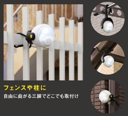 ブラック 幅9.2×奥行き8×高さ10cm ムサシ RITEX 「自由に曲がる三脚で様々な場所に取付可能! 」 LEDどこでも_画像3