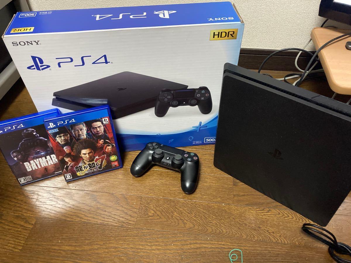 プレイステーション4 PS4本体 付属品 龍が如く7ソフト デイメアソフト ジェットブラック