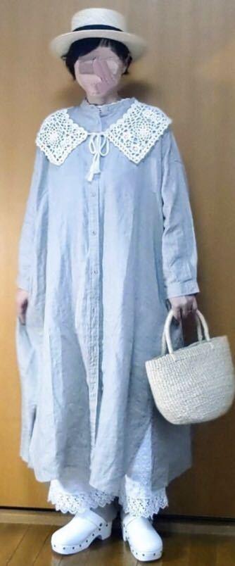 【新品】リネン100%★着回ししやすいシャツワンピース サマンサモスモス Samansa Mos2_画像5