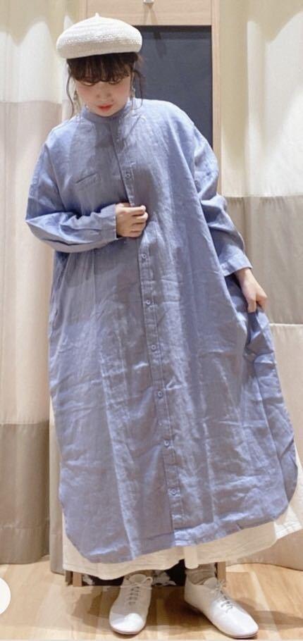 【新品】リネン100%★着回ししやすいシャツワンピース サマンサモスモス Samansa Mos2_画像4
