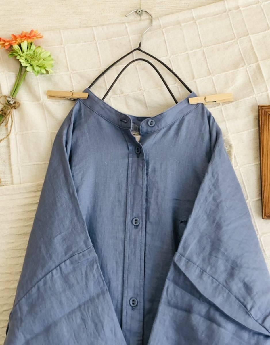 【新品】リネン100%★着回ししやすいシャツワンピース サマンサモスモス Samansa Mos2_画像9