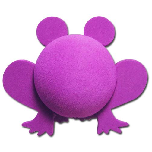 パープル フロッグ アンテナボール アンテナトッパー 車 目印 カスタム かわいい カエル 蛙 動物 アニマル 紫 アメ雑 定形外_画像2