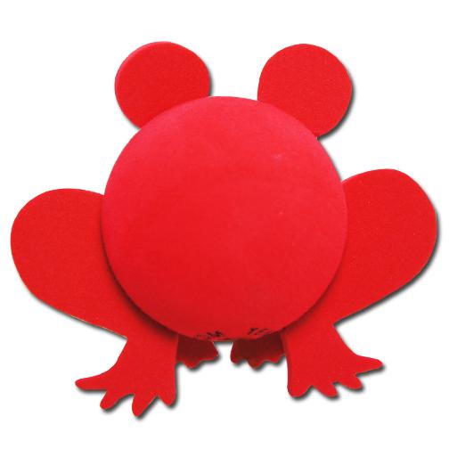 レッド フロッグ アンテナボール アンテナトッパー 車 目印 カスタム かわいい カエル 蛙 動物 アニマル 赤 アメ雑 定形外_画像2