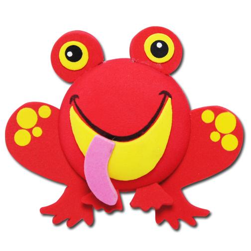 レッド フロッグ アンテナボール アンテナトッパー 車 目印 カスタム かわいい カエル 蛙 動物 アニマル 赤 アメ雑 定形外_画像1