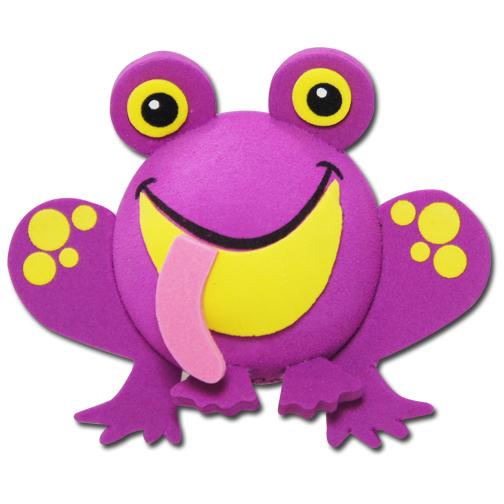 パープル フロッグ アンテナボール アンテナトッパー 車 目印 カスタム かわいい カエル 蛙 動物 アニマル 紫 アメ雑 定形外_画像1