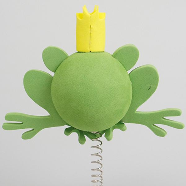 プリンス フロッグ アンテナボール アンテナトッパー 車 目印 カスタム かわいい カエル 蛙 動物 アニマル 王子 アメ雑 定形外_画像2