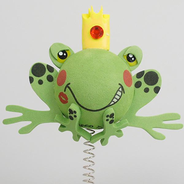 プリンス フロッグ アンテナボール アンテナトッパー 車 目印 カスタム かわいい カエル 蛙 動物 アニマル 王子 アメ雑 定形外_画像1