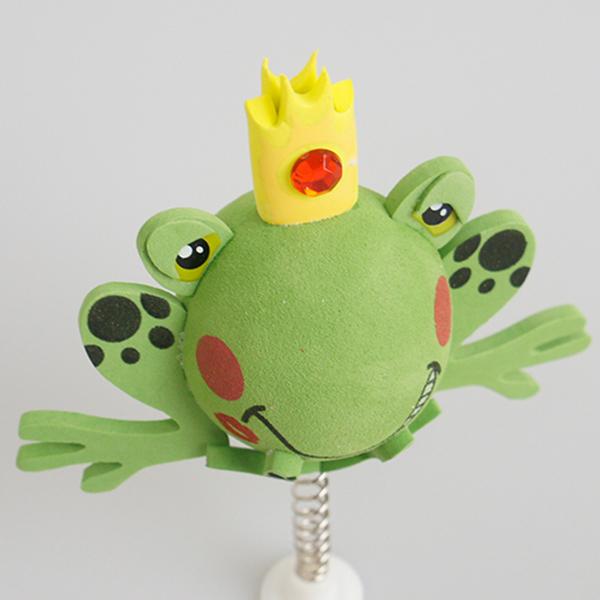 プリンス フロッグ アンテナボール アンテナトッパー 車 目印 カスタム かわいい カエル 蛙 動物 アニマル 王子 アメ雑 定形外_画像3
