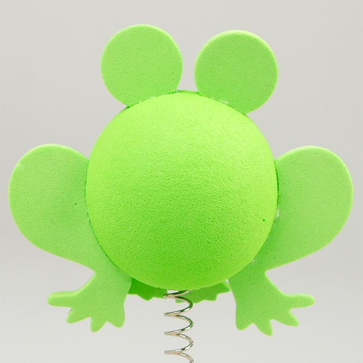グリーン フロッグ アンテナボール アンテナトッパー 車 目印 カスタム かわいい カエル 蛙 動物 アニマル 緑 アメ雑 定形外_画像2