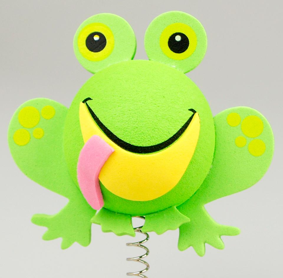 グリーン フロッグ アンテナボール アンテナトッパー 車 目印 カスタム かわいい カエル 蛙 動物 アニマル 緑 アメ雑 定形外_画像1