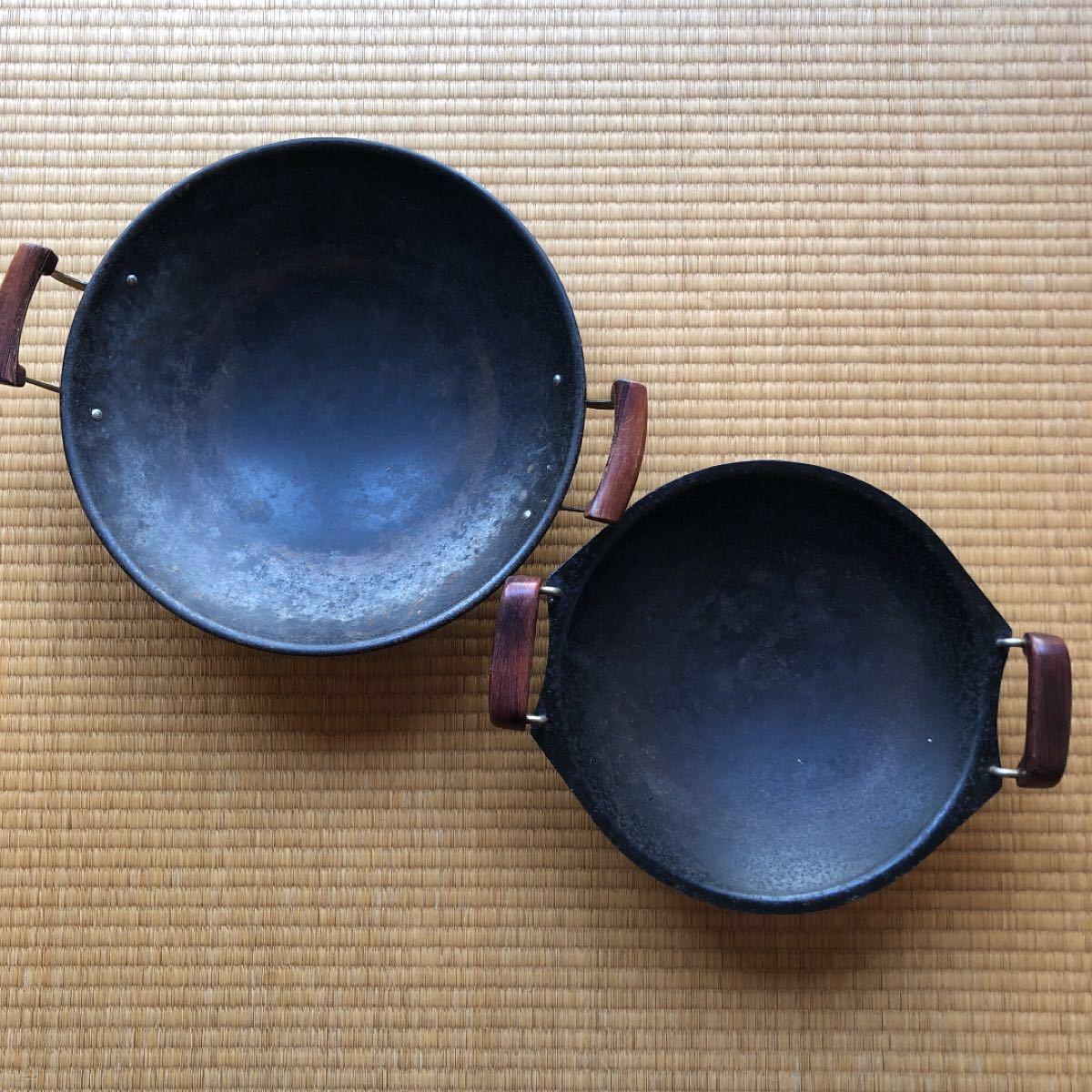【★】中華鍋 レジャー アウトドア 昭和レトロ ダッチオーブン