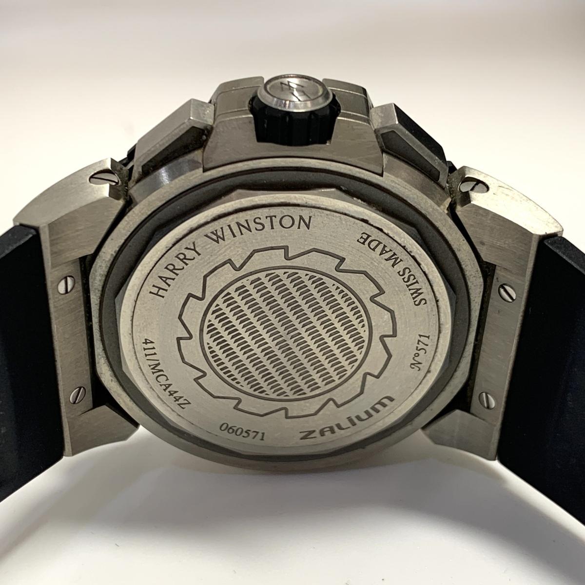 ◎1円~ ハリーウィンストン オーシャンスポーツ クロノ スケルトン 411/MCA44ZC.WI メンズ 自動巻き 保証書 腕時計 CD27176915_画像3