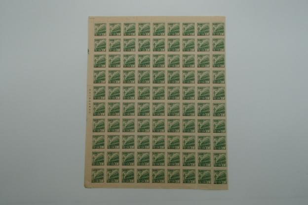 ☆未使用☆ 普5 天安門図第5版 1951年 30000円 90枚 北京人民印刷廠承印 中国切手