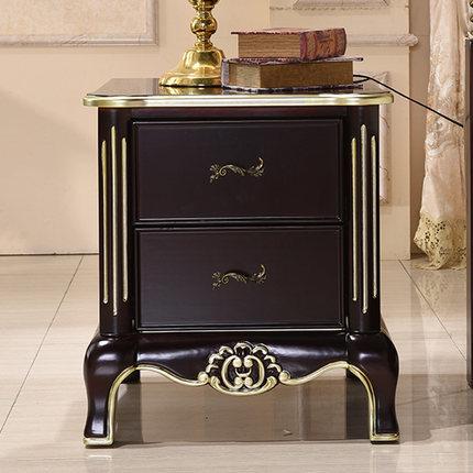 【大人気!】高品質 ベッドサイドテーブル .置台 サイドテーブル ナイトテーブル 高級感 アンティーク風 ソファーテーブル ブラック_画像1
