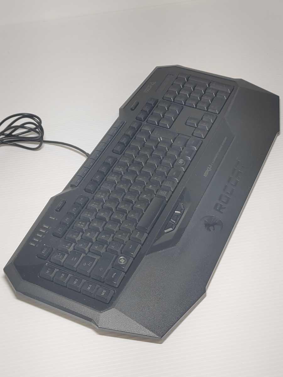 【美品】ROCCAT ISKU ROC-12-716-AS ILLUMINATED GAMING KEYBOARD ゲーミングキーボード ロキャット LED マクロキー 日本語配列 廃番品_画像4