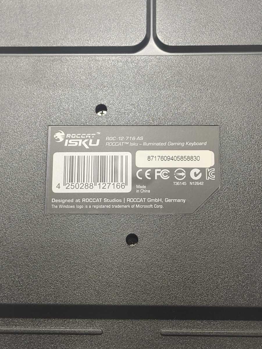 【美品】ROCCAT ISKU ROC-12-716-AS ILLUMINATED GAMING KEYBOARD ゲーミングキーボード ロキャット LED マクロキー 日本語配列 廃番品_画像6