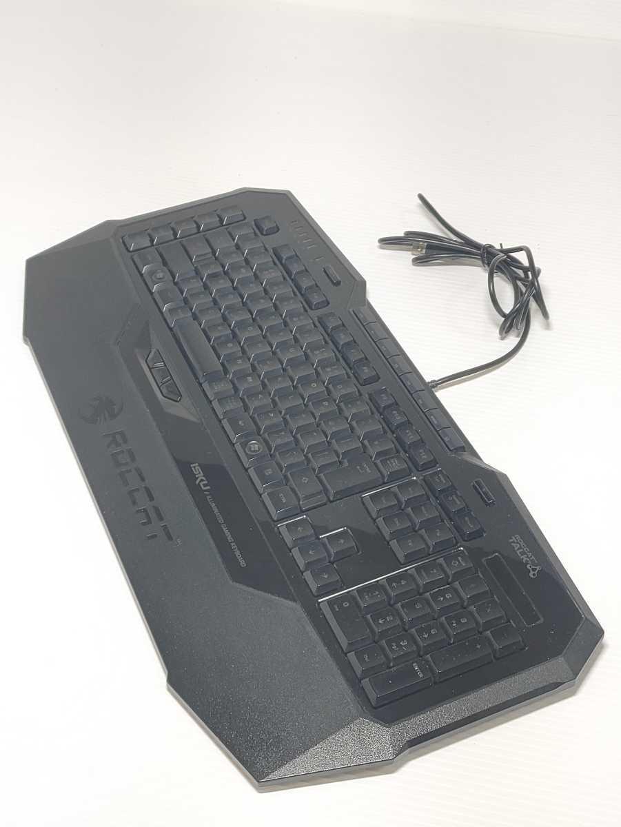 【美品】ROCCAT ISKU ROC-12-716-AS ILLUMINATED GAMING KEYBOARD ゲーミングキーボード ロキャット LED マクロキー 日本語配列 廃番品_画像3