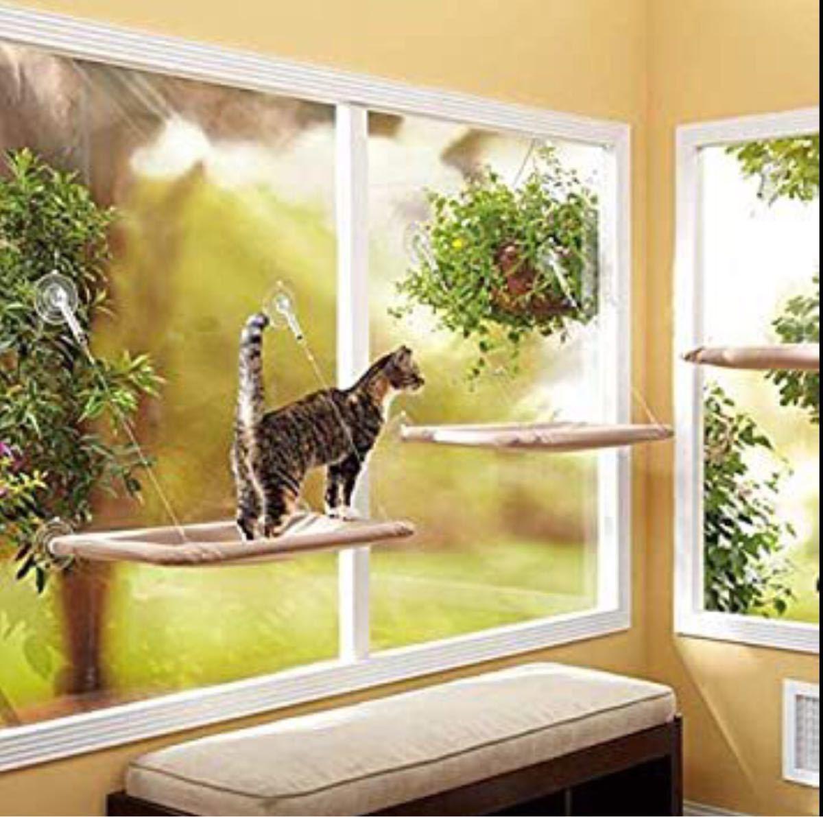 ねこベッド ネコベッド ペットハンモック 猫ベッド 窓 猫ハンモック ケージ