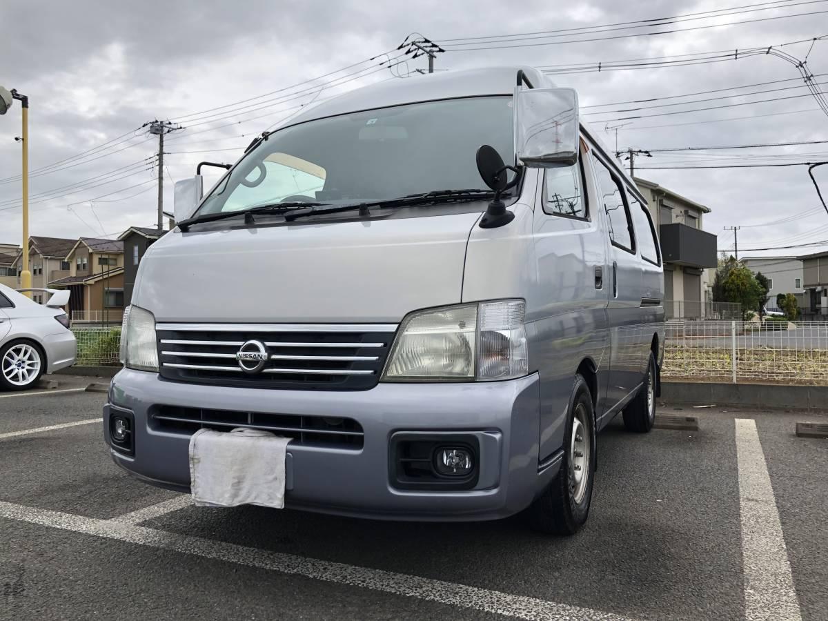 「個人出品 キャラバン10人乗りガソリン車 検R3年5月」の画像1