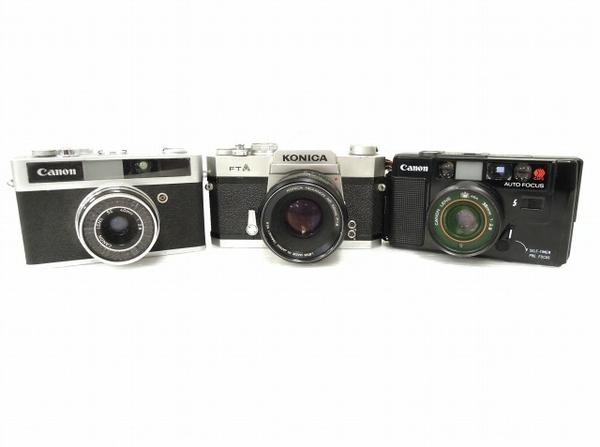 KONICA CANON フィルム カメラ おまとめ 3点 セット ジャンク O5613624_画像1
