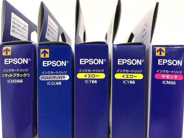 【1円】 EPSON ICMB66 ICGL66 ICY66 ICM66 PX-7V用 インク 4色セット 5個セット 未使用 W5468057_画像4