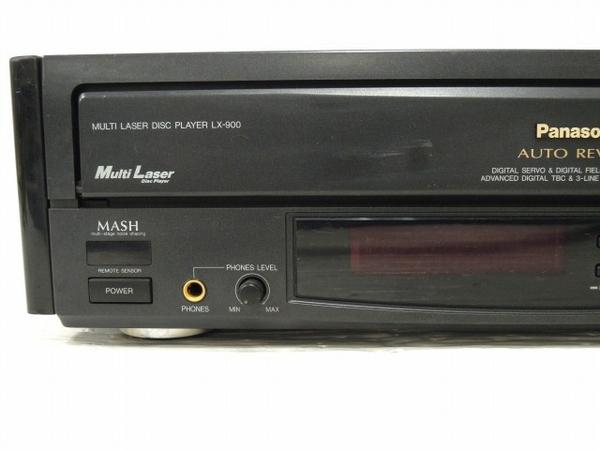 【1円】 ジャンク Panasonic LX-900 松下電器 LDプレイヤー 映像機器 O5535135_画像3