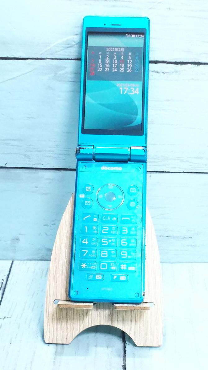 docomo AQUOS ケータイ SH-06G ブルー 本体 白ロム SIMロック解除済み SIMフリー 595079_画像1