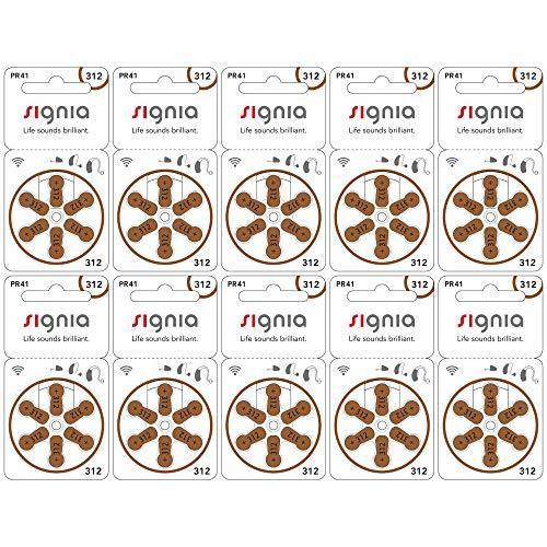 新品特価!!シグニア シグニア 補聴器用空気電池 PR41(312) 10パックセット(60粒)_画像1
