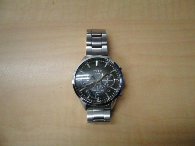 可動品 SEIKO セイコー WIRED ワイアード VR42-KZC0 クロノグラフ ソーラー デイト メンズ 腕 時計
