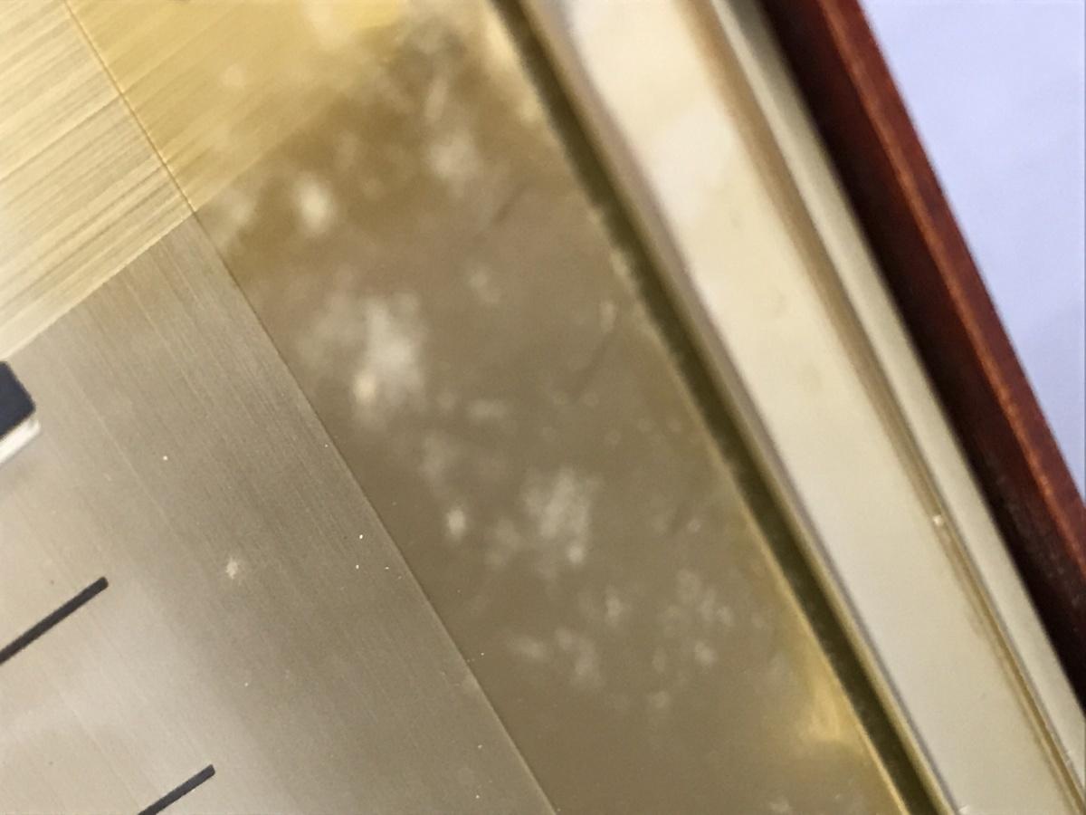 ★08-007★時計4点セット セイコー 掛け時計 チャイム機能付き 他 シチズン 置時計等 色々まとめて レトロ 木枠 竹枠【ジャンク品】_画像9