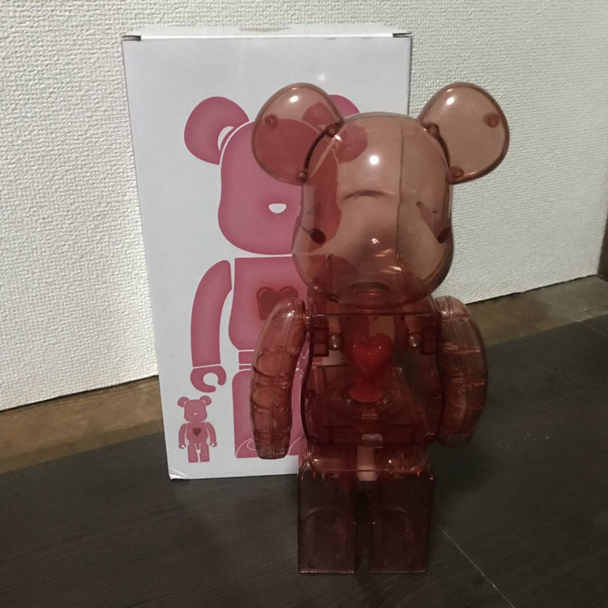 Bearbrick x Emotionally Unavailable Red Heart 400% Red レッド 赤 紅 ベアブリック BE@RBRICK _画像2