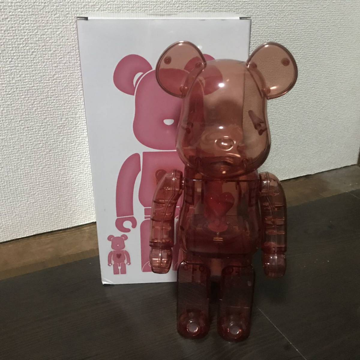 Bearbrick x Emotionally Unavailable Red Heart 400% Red レッド 赤 紅 ベアブリック BE@RBRICK _画像1