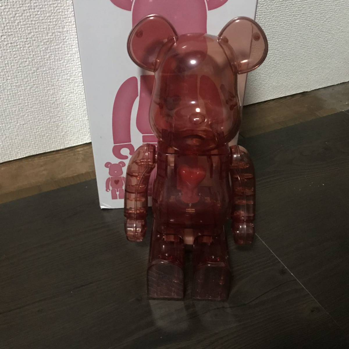 Bearbrick x Emotionally Unavailable Red Heart 400% Red レッド 赤 紅 ベアブリック BE@RBRICK _画像4