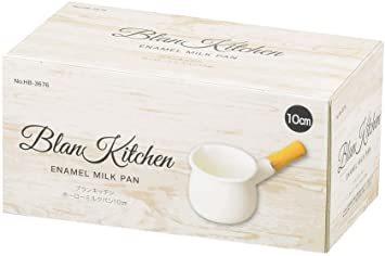 ホワイト 10cm パール金属 ミルクパン 10cm ホーロー ブランキッチン ホワイト HB-3676_画像2