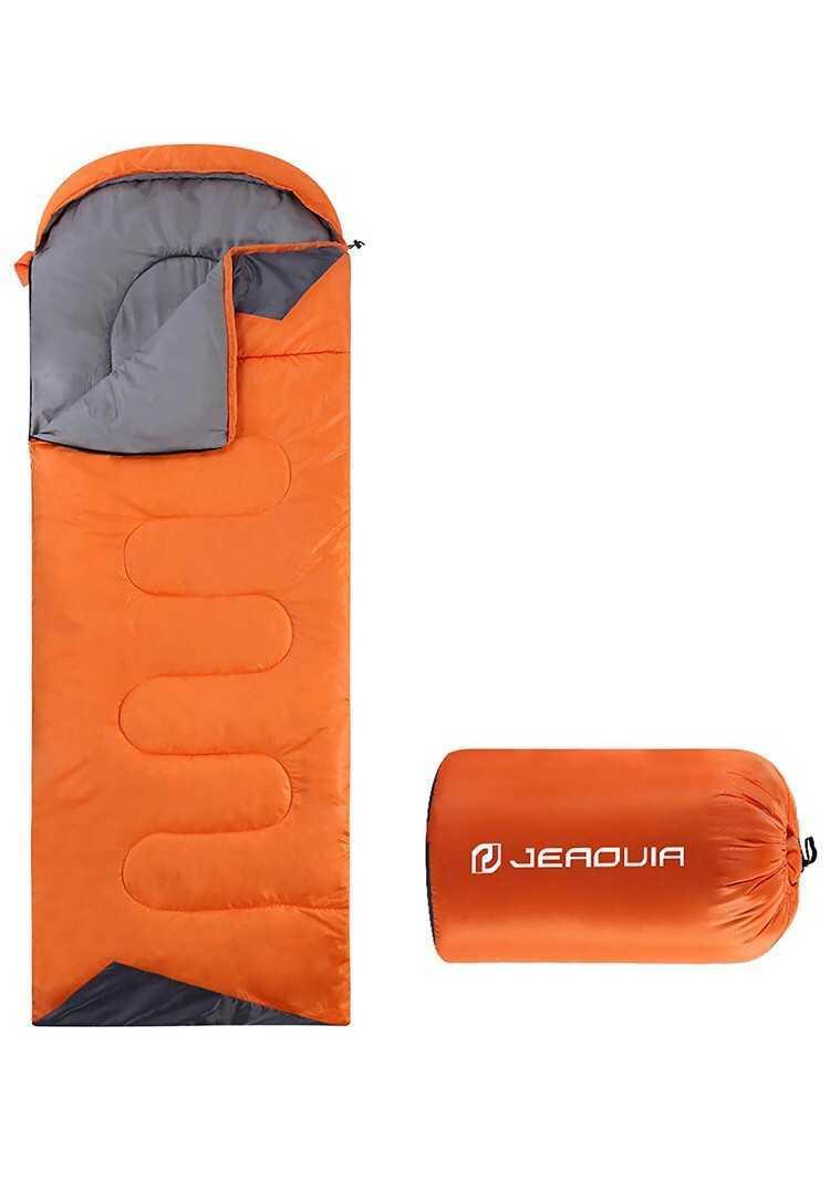 封筒型寝袋 軽量 保温 防水 簡単収納シュラフ 登山 車中泊 キャンプ オフィス休み 避難 1.35kg 春夏秋の使用可能