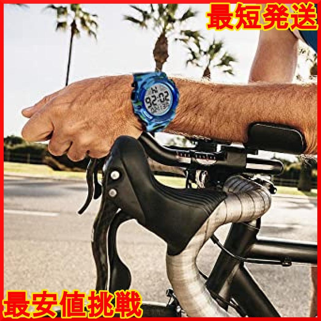 8-ライト ブルー 腕時計 メンズ デジタル スポーツ 50メートル防水 おしゃれ 多機能 LED表示 アウトドア 腕時計(ブル_画像4