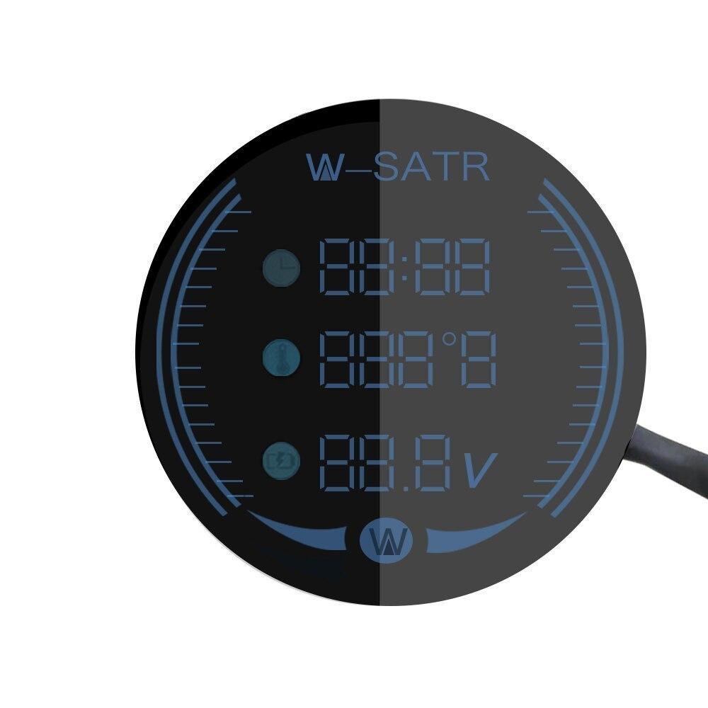 バイク用 電圧計 時計 気温計 9-24V 3-in-1 ボルトゲージ Led 電圧計時間温度_画像4