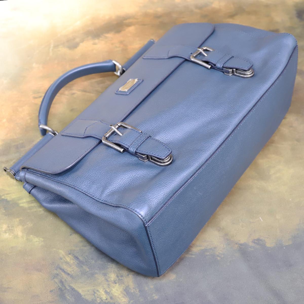 本物 新品 ドルガバ 極希少 メンズ シシリー レザービジネスバッグ 斜め掛け2WAYブリーフケース A4書類トートバッグ DOLCE&GABBANA_画像4
