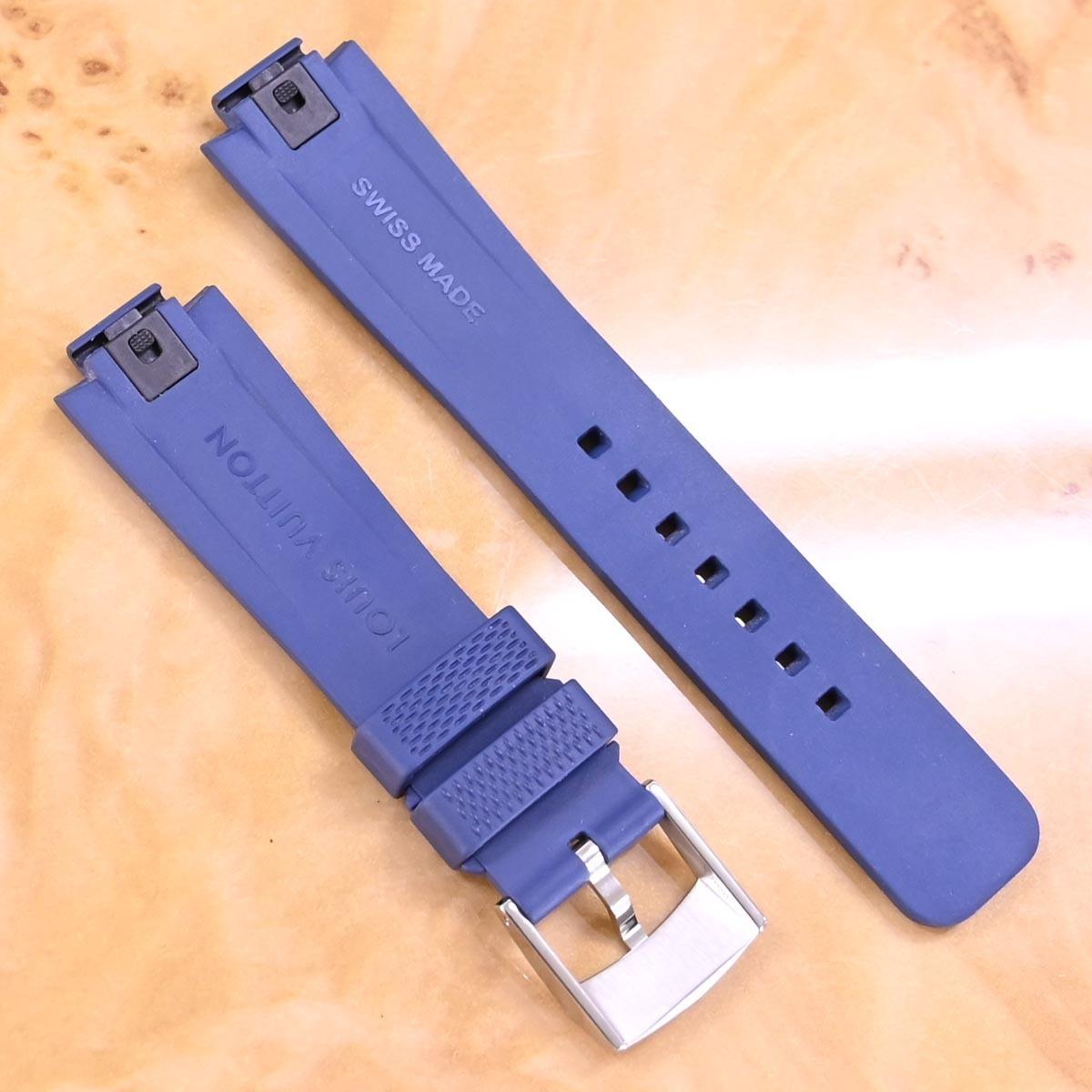本物 新品同 ルイヴィトン 新型ワンタッチ リムーバブル メンズ タンブール対応 21mm幅 ダミエ ウォッチベルト 腕時計バンド_画像2