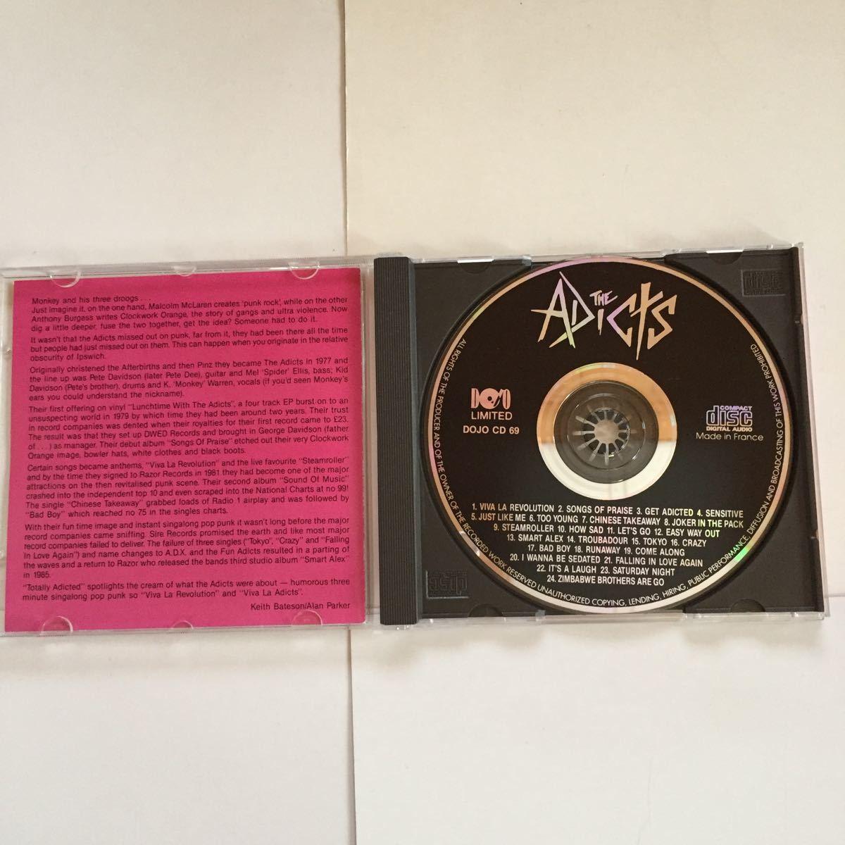 THE ADICTS BEST アディクツ ベスト 札幌のディスコで流行ったTOKYO収録 釈迦曼荼羅 ラモーンズ マレーネ・デートリッヒのカヴァー曲収録