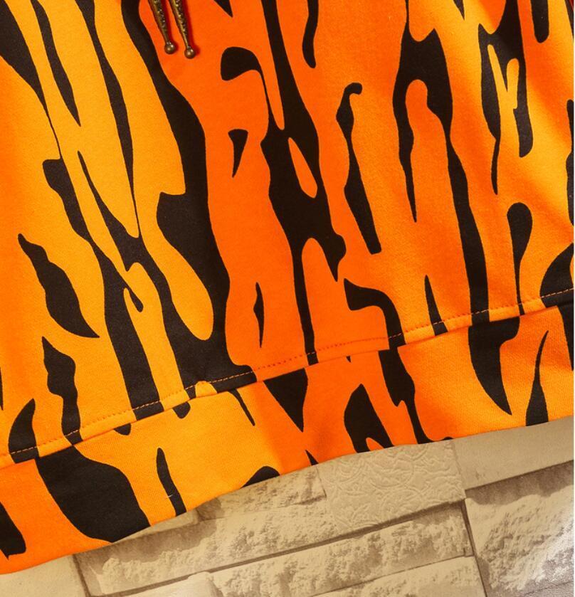 春2021 新品 Tシャツ スウェット パーカー カジュアル プルオーバー トレーナー メンズ トップス ヒョウ柄 ゆったり[M~5XL]選択可 白_画像10