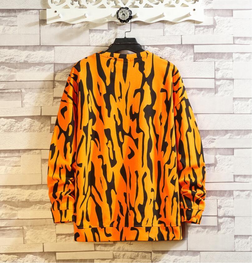 春2021 新品 Tシャツ スウェット パーカー カジュアル プルオーバー トレーナー メンズ トップス ヒョウ柄 ゆったり[M~5XL]選択可 白_画像6